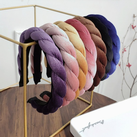 velvet fashion twist braided headband  NHAQ312607's discount tags