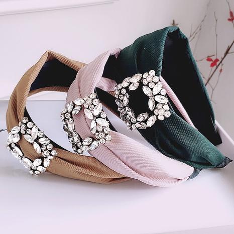 wide-brimmed fashion rhinestone headband  NHAQ312609's discount tags