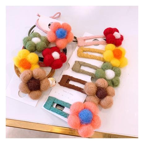 Korea simple flower candy color wild handmade hair clip NHHD312614's discount tags