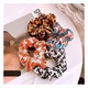 Koreas new chiffon silk print hair scrunchies  NHHD312617