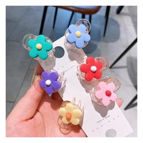 Clip latéral en cristal transparent de fleurs simples coréennes NHHD312622's discount tags