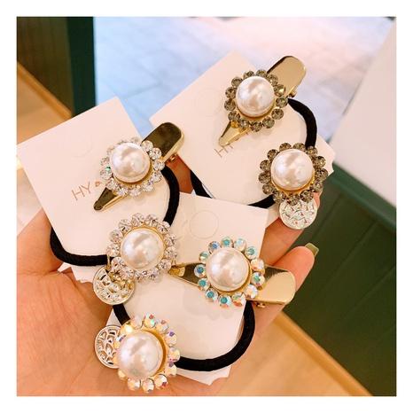 Épingle à cheveux corée rétro diamant crème NHHD312624's discount tags