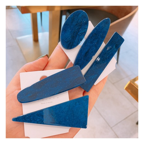 Koreanischer Retro blauer Seitenclip NHHD312647's discount tags