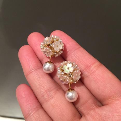 kleine Blume elegante Perlenohrringe NHWK312661's discount tags