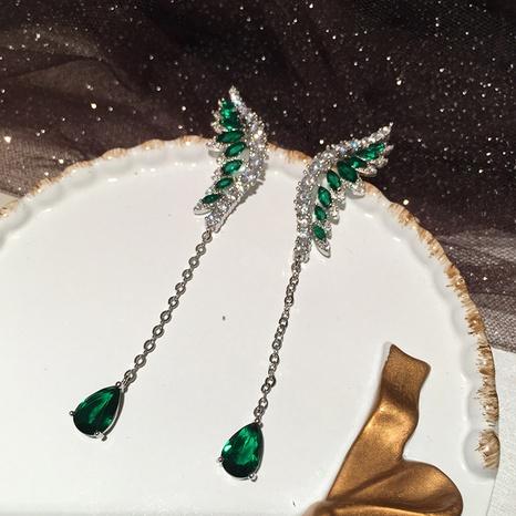 Emerald wings earrings  NHWK312670's discount tags