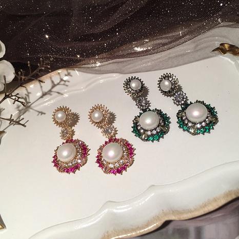 elegante Perlenblumenohrringe NHWK312674's discount tags