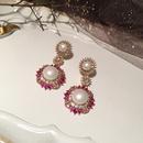 elegant pearl flower earrings  NHWK312674