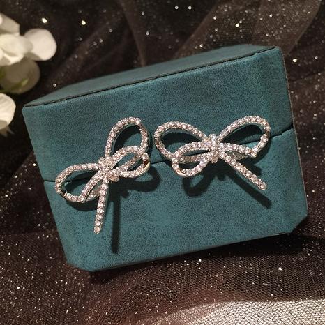 Cute Bowknot Diamond Earrings NHWK312696's discount tags