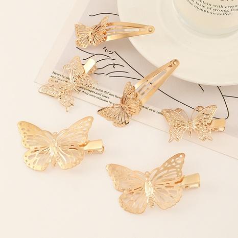 ensemble d'épingles à cheveux papillon creux en alliage de fer simple NHAU312710's discount tags