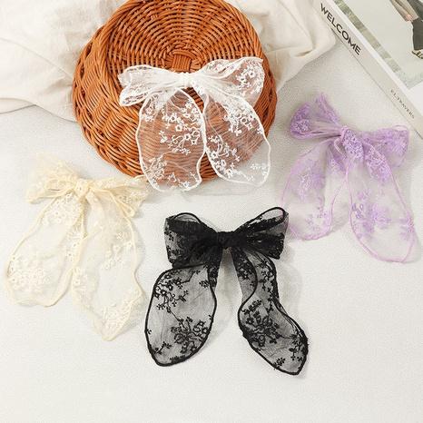 Korean simple lace bow hair ring NHAU312717's discount tags