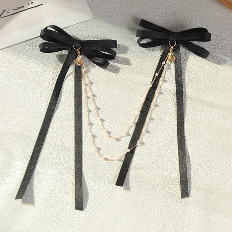 einfache neue Mode Perlenkette Bogen Haarnadel NHAU312720's discount tags