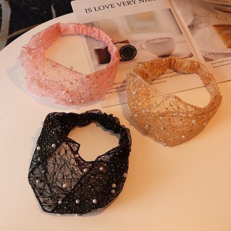 bande de cheveux de perle de dentelle NHAU312724's discount tags