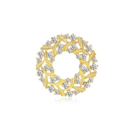 nouvelle broche en diamant en alliage rond géométrique NHDR312730's discount tags