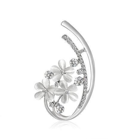 nouvelle broche en alliage de diamant de fleur simple NHDR312732's discount tags