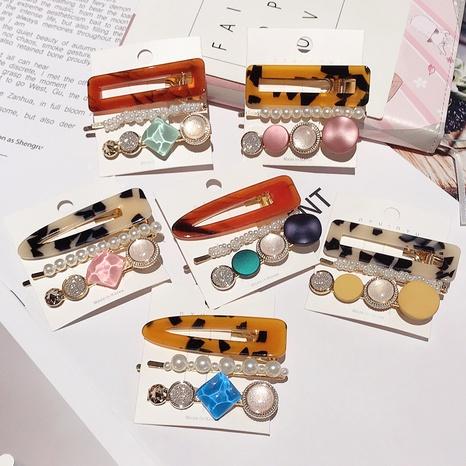 Ensemble de 3 épingles à cheveux en acrylique perlé NHDQ312740's discount tags