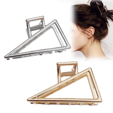 épingle à cheveux en métal rétro simple grand triangle géométrique NHDQ312742's discount tags