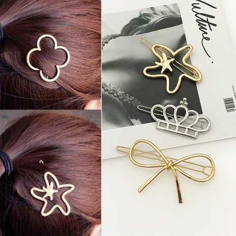Pince à cheveux arc couronne en alliage simple coréen NHDQ312784's discount tags