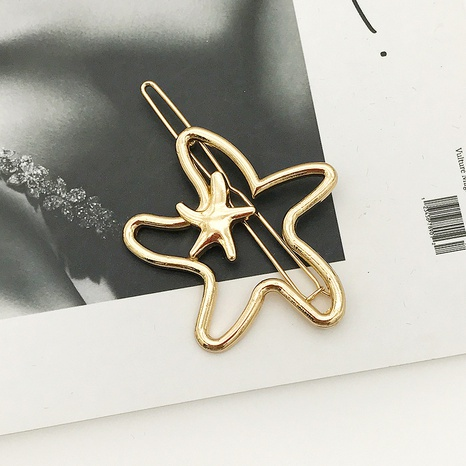 épingle à cheveux en métal simple étoile de mer géométrique NHDQ312785's discount tags
