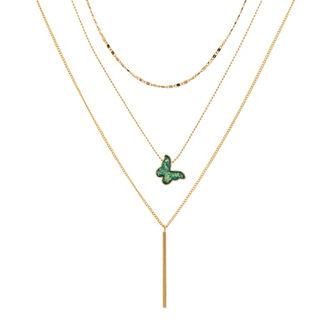 Korean simple butterfly pendant multi-layer necklace NHAN312798's discount tags