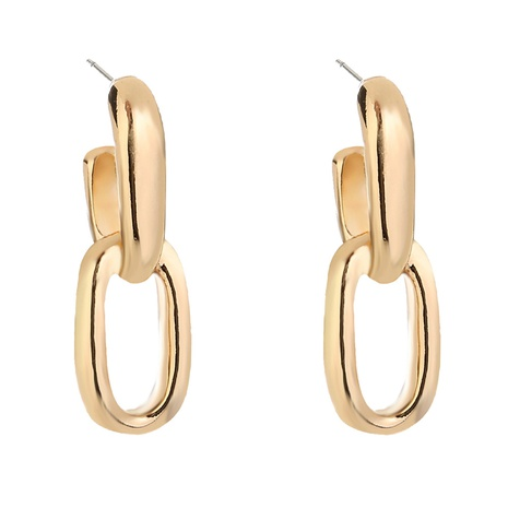 simple exaggerated metal chain earrings NHAN312813's discount tags