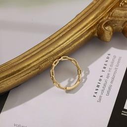 Mode goldenen einfachen Ring NHLL312817