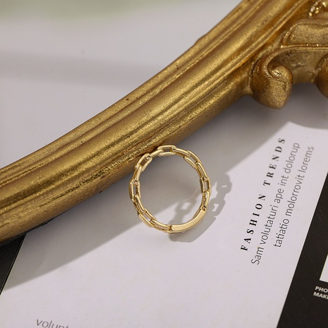 Fashion golden simple ring NHLL312817's discount tags