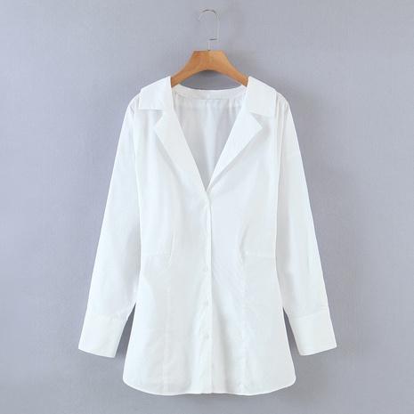 Revers Langarmhemd aus Popeline NHAM312922's discount tags