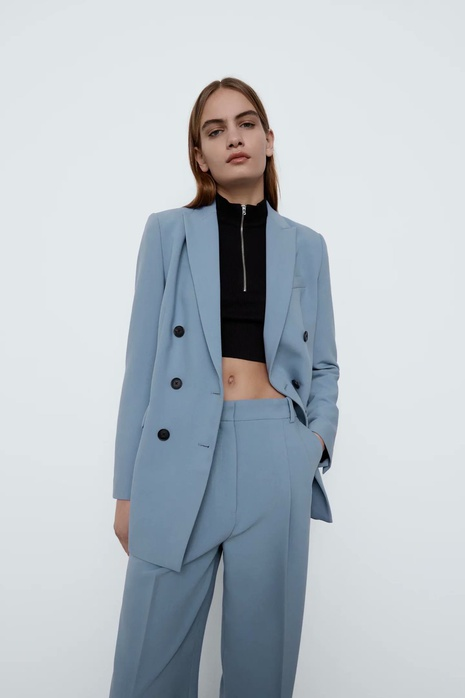 simple double-breasted suit women's jacket  NHAM312925