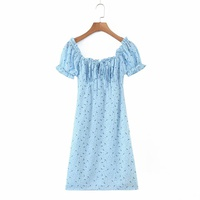 new pastoral style green leaf small floral lace dress NHAM312942