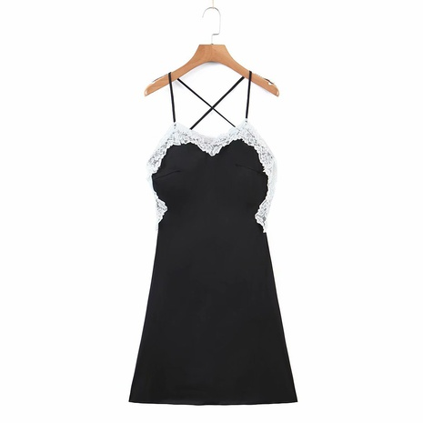 simple halter strap lace dress NHAM312943's discount tags