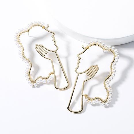 kreative Legierung Diamant eingelegte Perlenohrringe NHJE312968's discount tags