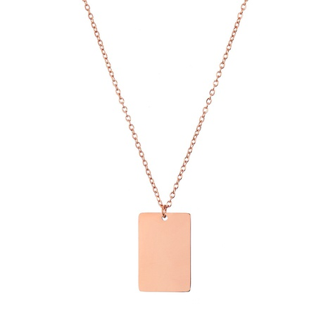 simple square titanium steel necklace  NHTF312805's discount tags