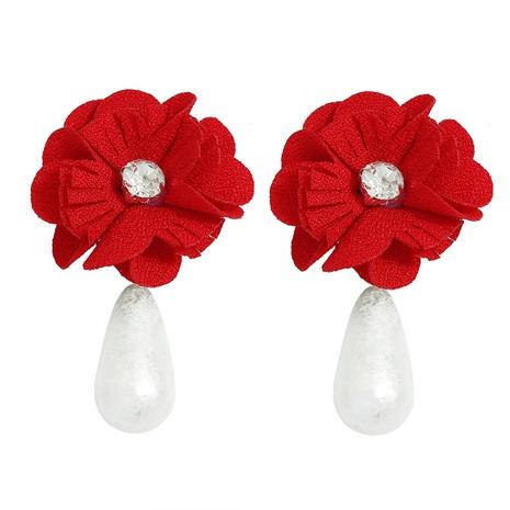einfache Rose unregelmäßige Perlenohrringe NHJQ313002's discount tags
