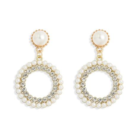 Koreanische einfache eingelegte Perlenohrringe NHJQ313005's discount tags