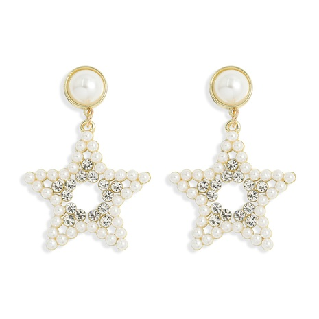 Eingelegte Perlenohrringe der koreanischen Mode NHJQ313013's discount tags