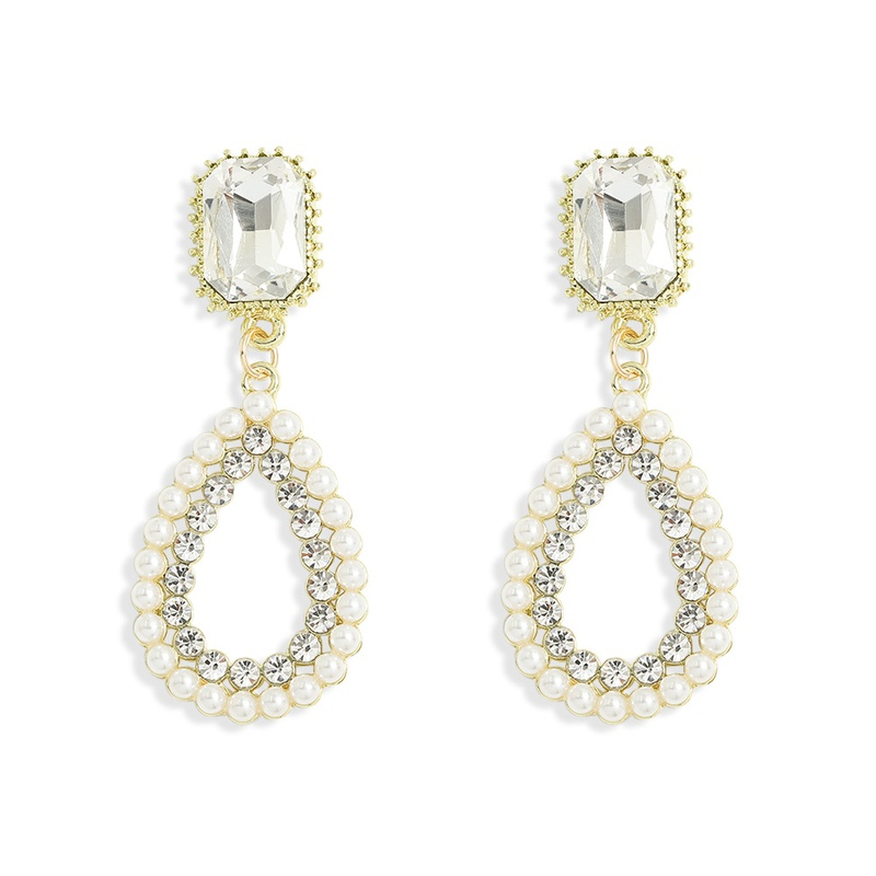 fashion exaggerated style pearl earrings NHJQ313014