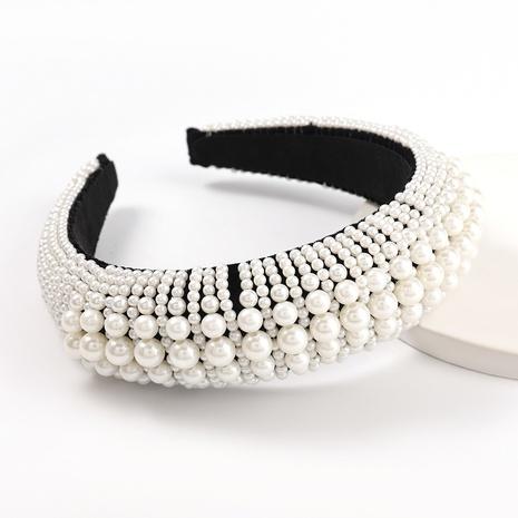 moda nueva diadema de perlas de imitación NHJE313015's discount tags