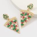 simple alloy diamond earrings  NHJE313023