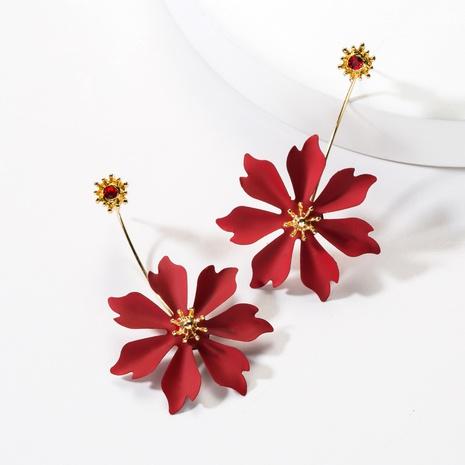 neue, mit Diamanten besetzte Blumenquastenohrringe aus Legierung NHJE313028's discount tags
