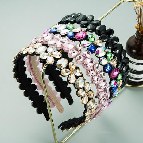 diadema de diamantes de flores de moda NHLN313040's discount tags