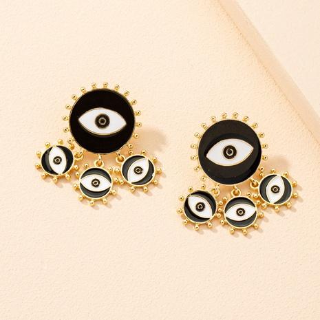 Nuevos pendientes retro de ojo de demonio de moda NHAI313073's discount tags