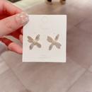 Boucles d39oreilles corennes simples en zircon micro incrust de perles NHCG313088