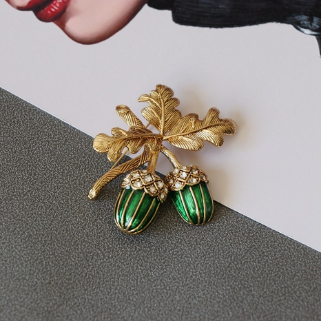 retro palace style fruit brooch NHOM313103's discount tags