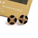 Round Retro Metal Stud Earrings  NHOM313105