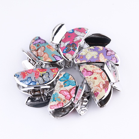 Korean simple butterfly pattern grab clip NHBE313180's discount tags