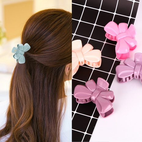 pinza de pelo de plástico simple de nueva moda NHBE313185's discount tags