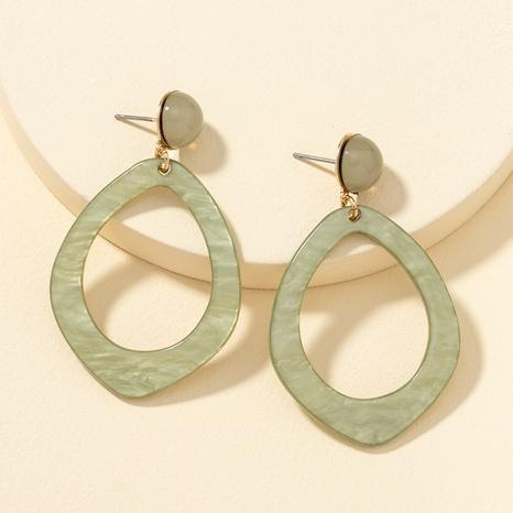 einfache grüne Ohrringe mit Acrylmuster NHQJ313206's discount tags