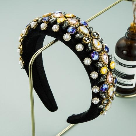 Barock Diamant Mode Schwamm Perle Stirnband NHLN313214's discount tags