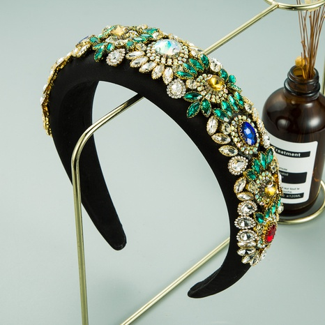 Barockschwamm mit breiter Krempe und Diamant-Retro-Stirnband NHLN313218's discount tags