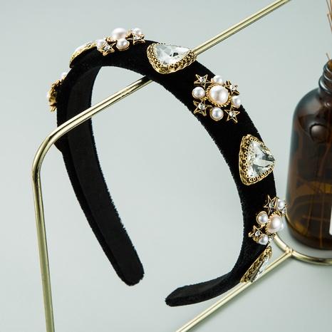 bandeau en flanelle de perles diamant baroque mode NHLN313220's discount tags
